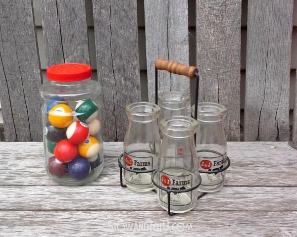 pool-balls-milk-bottles-montana-charlies-flea-market-finds-https://stowandtellu.com