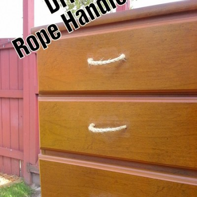 Furniture Freshening: DIY Rope Handles