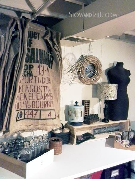 hanging-storage-display-burlap-coffee-sacks-stowandtellu.com