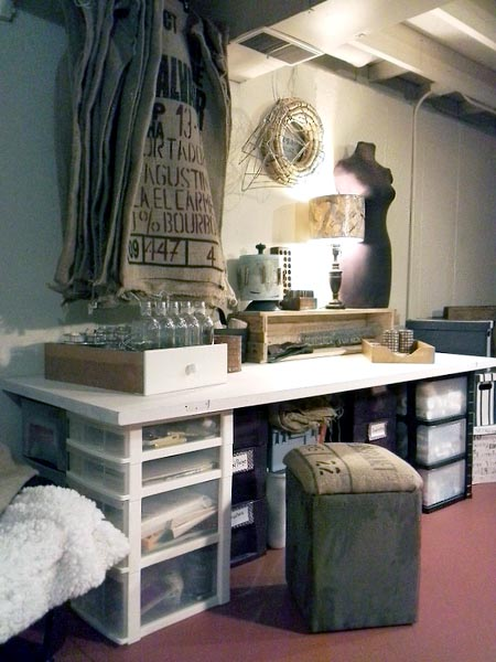 old-salvaged-door-craft-table-stowandtellu.com & Old Door Table and Arsty Craft Area | Stow\u0026TellU