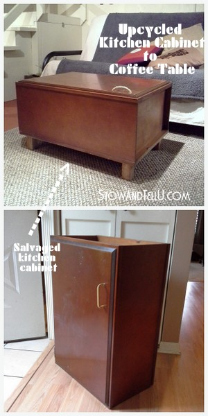 Upcycled Kitchen Cabinet Coffee Table | Stow&TellU