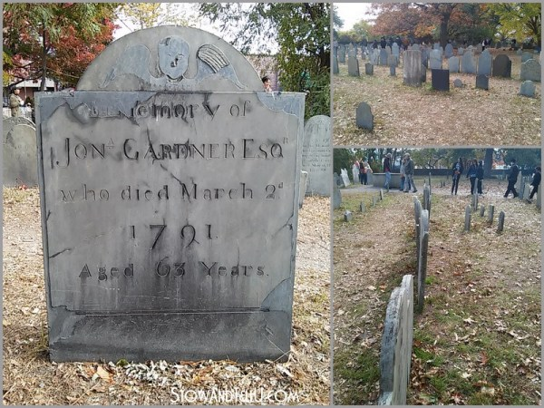 The graveyard and a visit to Salem Massachusetts on Halloween of 2014