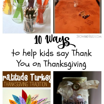 10 Ways to Help Kids Say Thank You on Thanksgiving