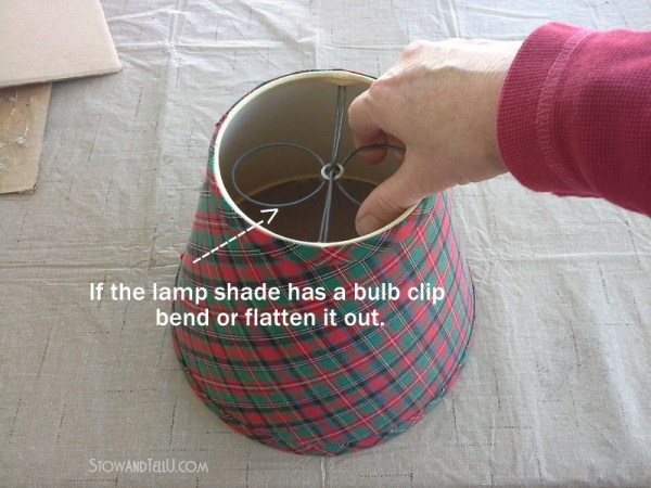 How to make a diy lamp shade gift basket and other unique gift wrap ideas from Stow and TellU