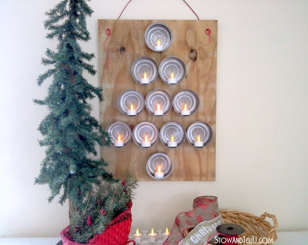 Upcycled Tuna Can Christmas Tree