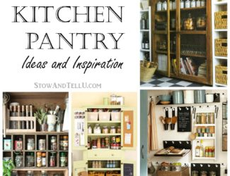 20 faux kitchen pantry ideas for creating a pantry space when you have no designated pantry storage area - Faux and TellU from StowandTellU.com