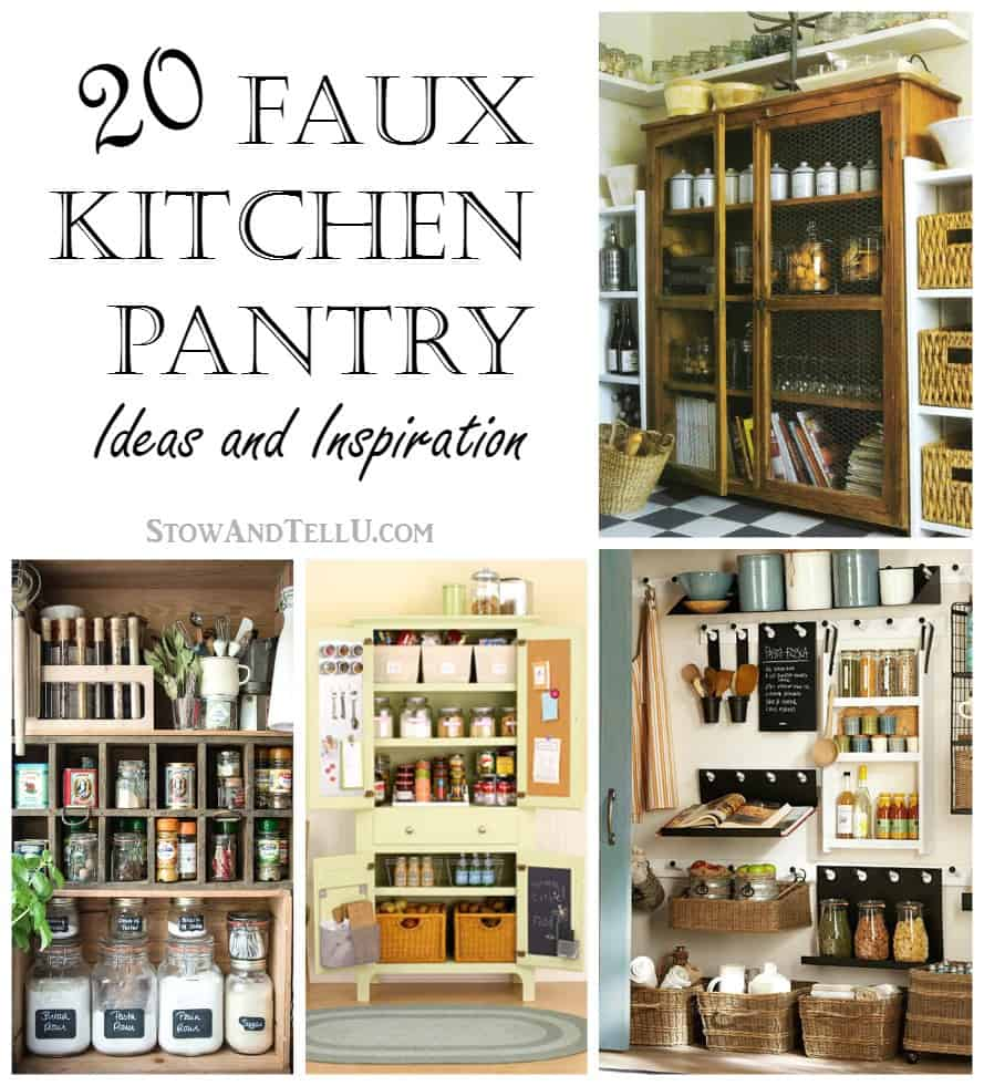 20 faux kitchen pantry ideas stow tellu for Kitchen pantry ideas