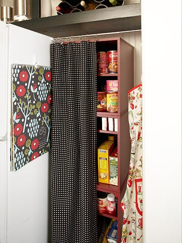 If your kitchen doesn't have a pantry, any of these faux pantry ideas might work for you - StowandTellU.com