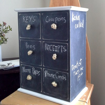 Chalkboard Painted Mini Drawer Organizer