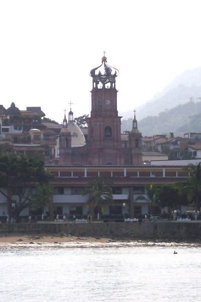 A view of downtown Puerto Vallarta - Puerto Vallarta in postcard format.