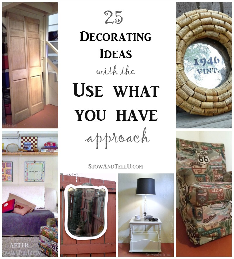 Use What You Have Decorating Idea For A Basement