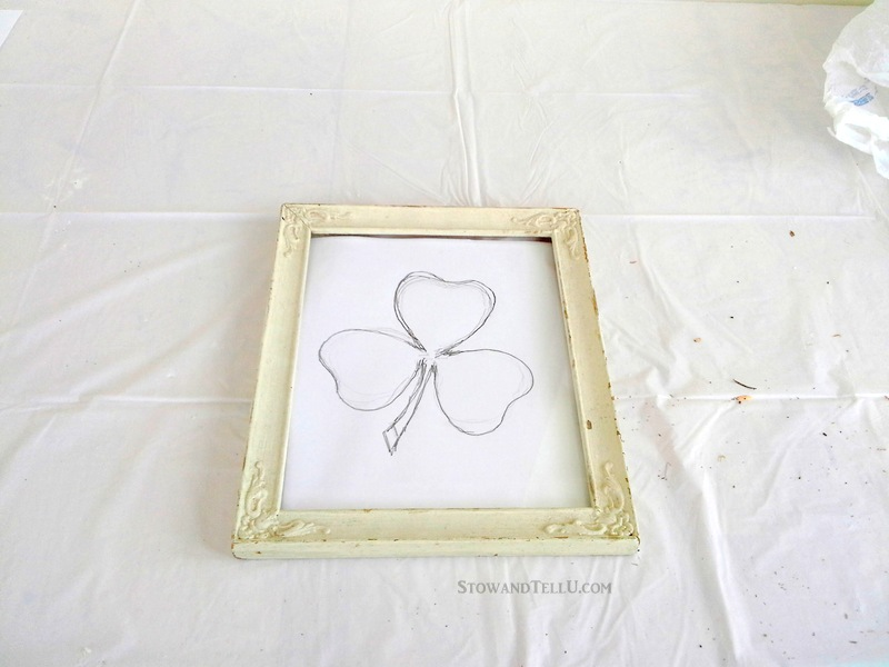 DIY Framed Moss Shamrock on Glass | Stow&TellU