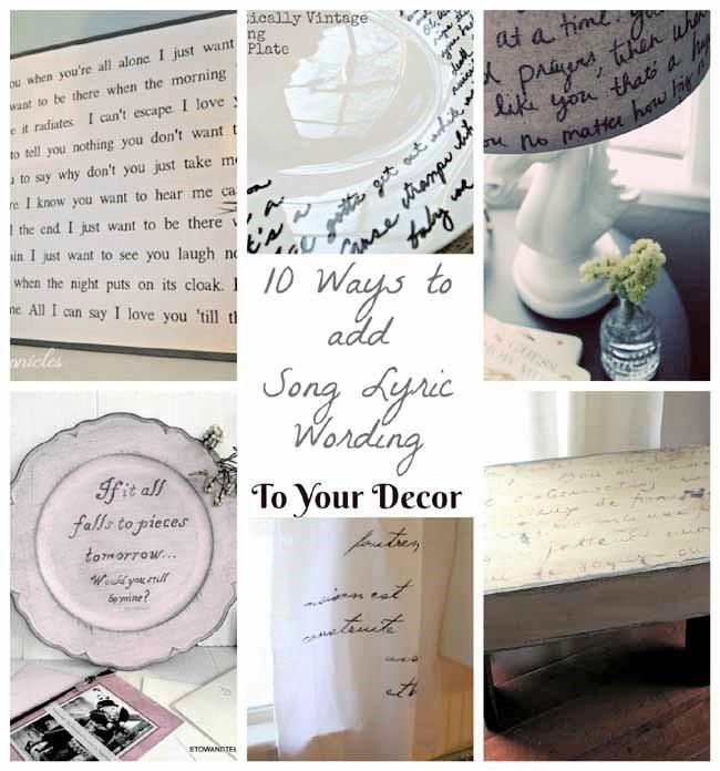 DIY Song Lyrics Plate | 10 Ways to put writing on home decor | stowandtellu.com