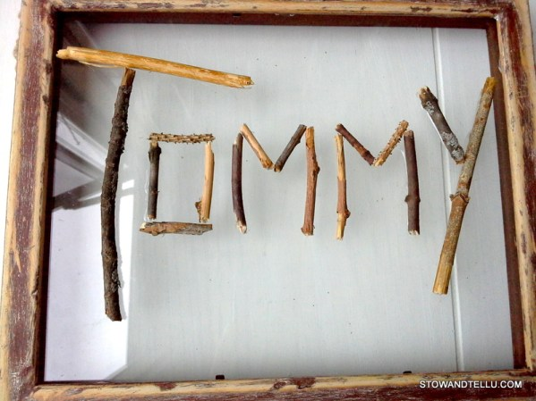 twig-crafts-name-plate - StowAndTellU.com
