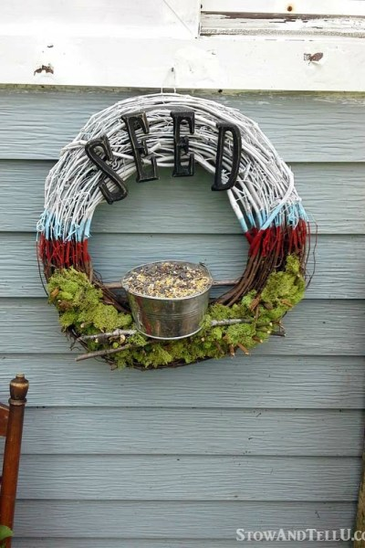 Patriotic Bird Feeder Wreath