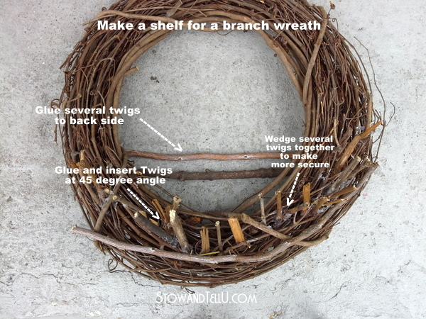 A grapevine wreath is painted red, white and blue and turned into a birdfeeder - How to make a patriotic bird feeder wreath - StowAndTellU.com