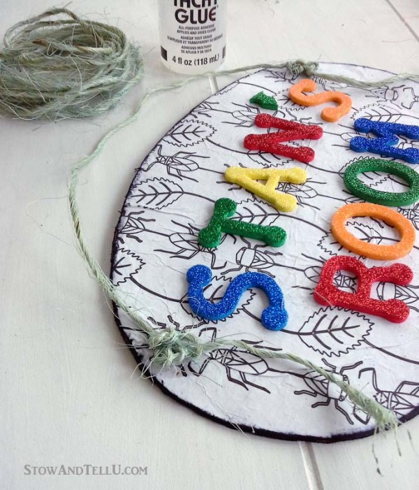 kids-craft-coloring-page-name-plate - StowAndTellU.com