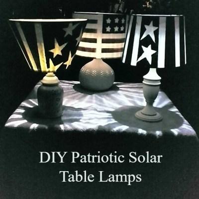 DIY Patriotic Solar Table Lamps