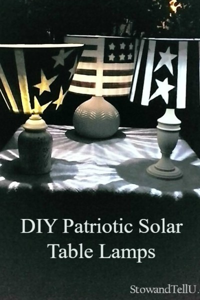 DIY Patriotic Solar Table Lamps