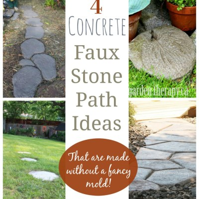4 Concrete Hand Shaped Stone Path Ideas