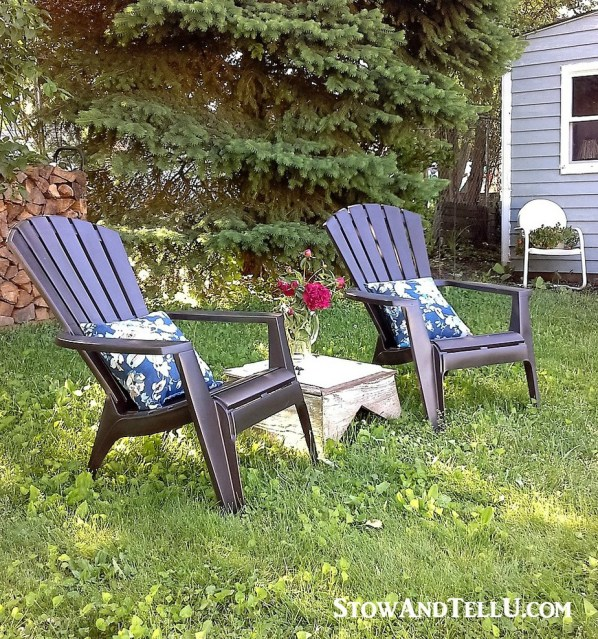 the back yard photo above a refresh with a coat of off white paint. Black Bedroom Furniture Sets. Home Design Ideas