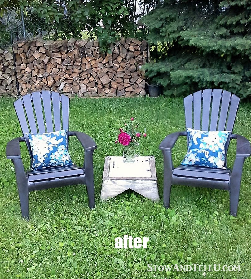 how to paint plastic chairs chair cover hire dorset yardworkation 1 spray and lawn stow tellu