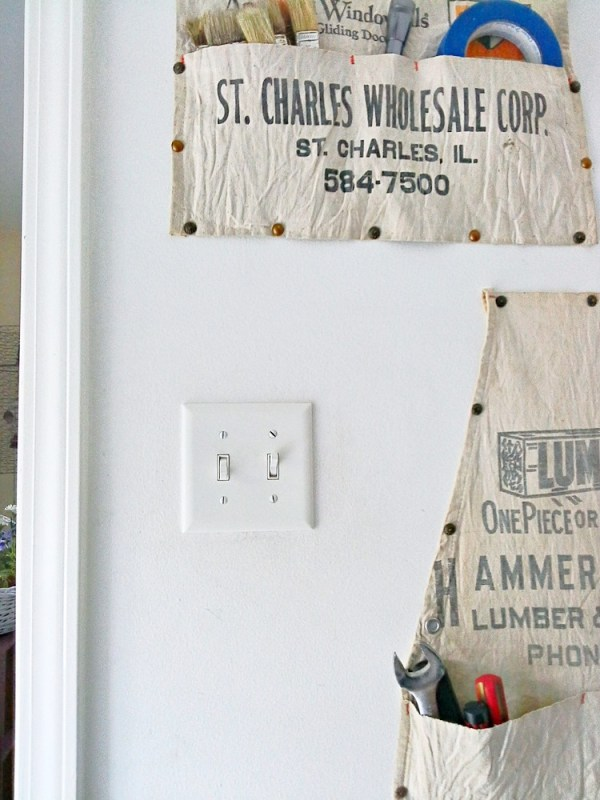 Old work apron vertical storage - StowAndTellU.com