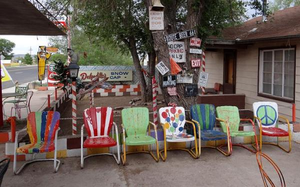 Vintage chair with painted sign - StowAndTellU.com