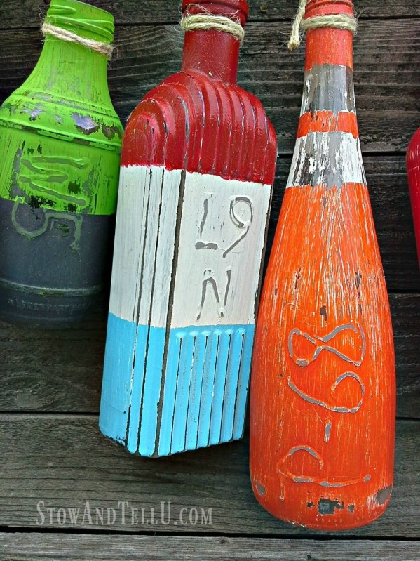 Make faux buoys or floats from bottles StowandTellU