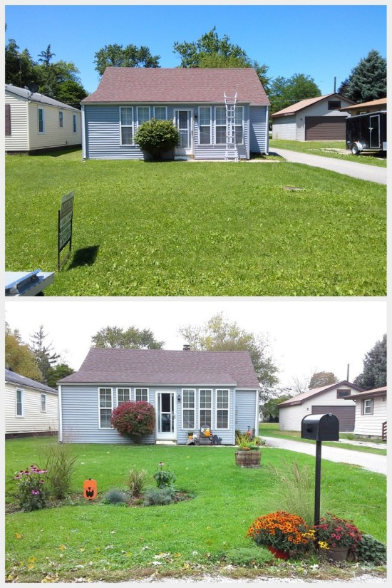 Before and After simple front yard update under $100 | StowAndTellU.com