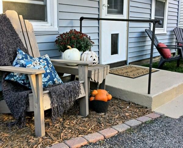 Back porch cement stoop update | Stowandtellu