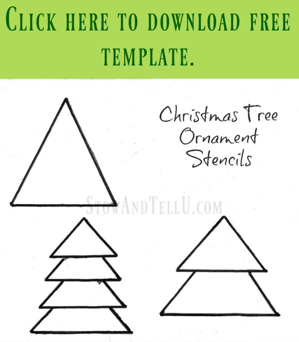 DIY Christmas tree ornament stencil free printable   StowandTellU