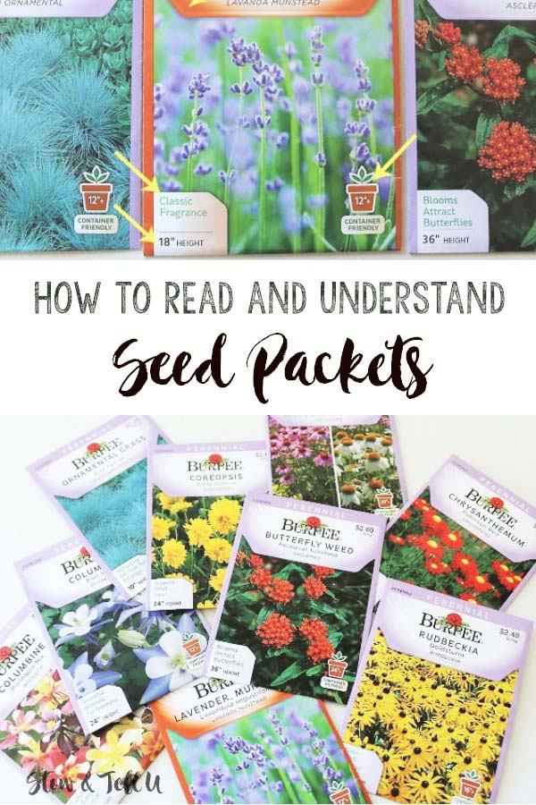 How to read seed packets | Understanding seed packet details | stowandtellu.com