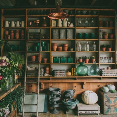 Copper and green potting shed - helloancollie