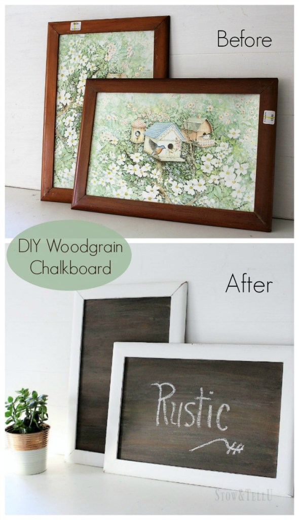 How To Make A Faux Woodgrain Chalkboard Surface Stowtellu
