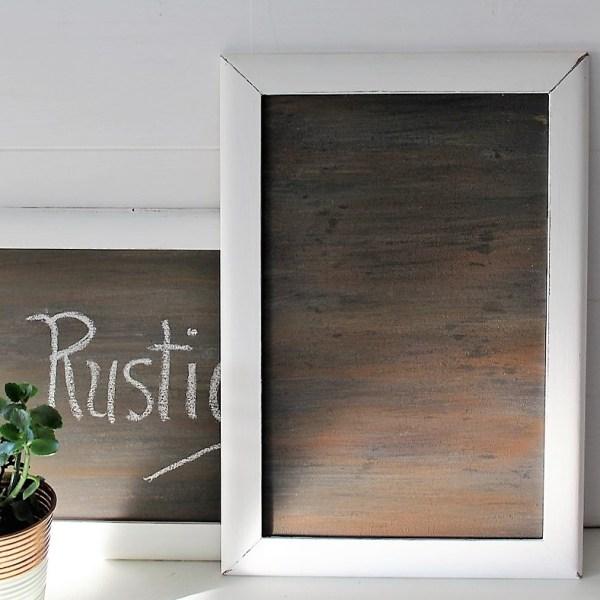 How to make a faux wood grain chalkboard surface tutorial | StowandTellU