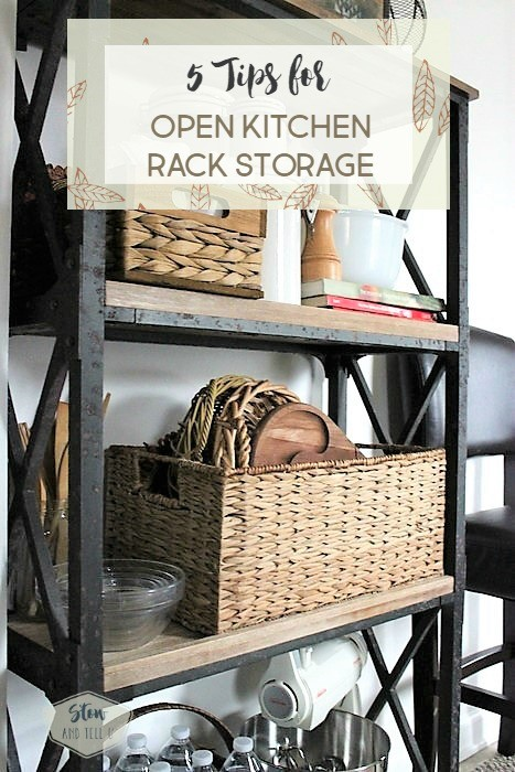 5 Tips for open kitchen rack storage solutions   Stowandtellu.com