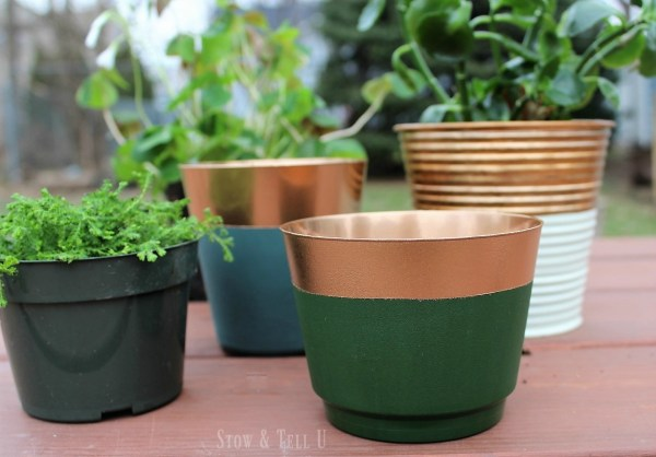 DIY Copper foil painted planters | Stowandtellu.com