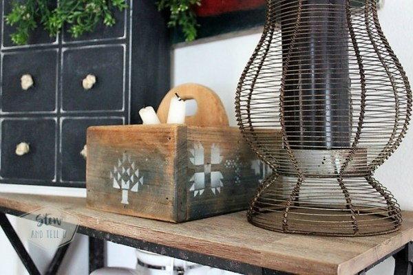 rustic-kitchen-storgae-amish-flatware-caddy | Stowandtellu.com