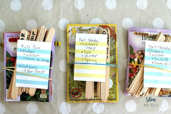 Easy seed packet organizing - no frills   Stowandtellu.com