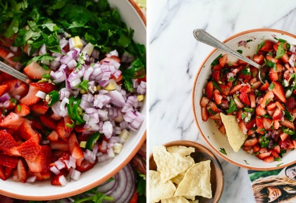 10-salsa-bar-recipes-how-to-make-strawberry-salsa | cookieandkate