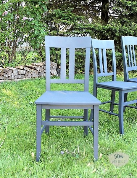 anvil-blue-gray-chalky-finish-painted-dining-chairs | stowandtellu.com