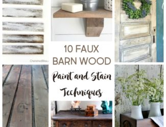 How to make wood look old | 10 faux barn wood weathering techniques | faux barnwood paint and stain ideas | stowandtellu.com