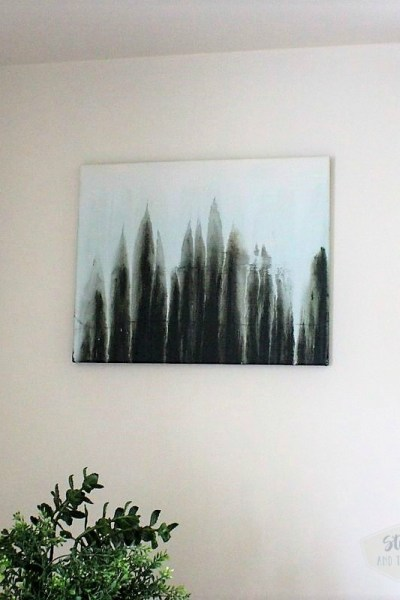 Abstract art forest scene made with the drip paint technique | Stowandtellu.com