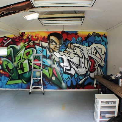 Goodbye Graffiti Wall: Change of Plans to the Hobby Shed Plans