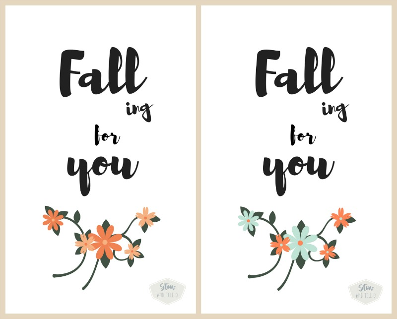 Free fall printable collection. Choose from flowers, pumpkins or leaves | Falling for You | Stowandtellu.com