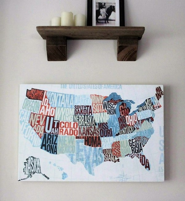 American map modern canvas art from Photowall | stowandtellu.com