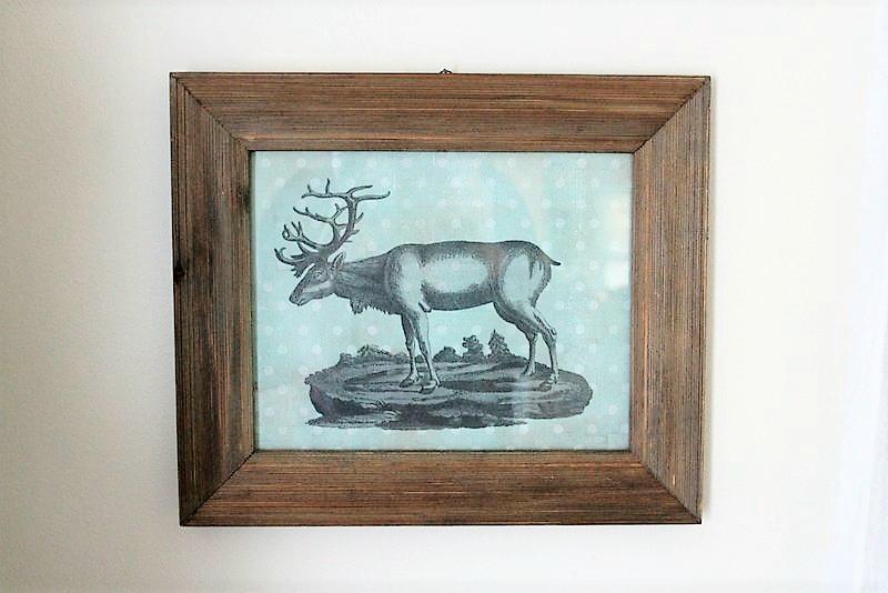 DIY Christmas Reindeer Wall Art on Polka Dot Scrapbook Paper   stowandtellu.com
