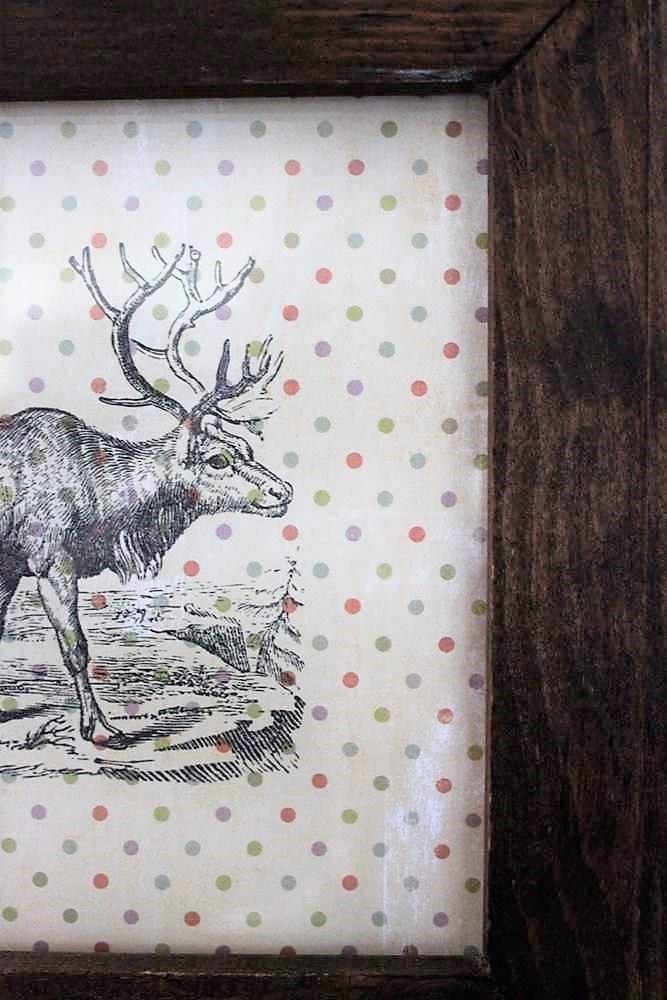 Polka dot scrapbook paper easy reindeer wall art   stowandtellu.com