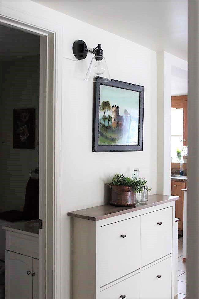 Ikea Shoe Cabinet Hack As Faux Built In Hallway Storage Stow Tellu